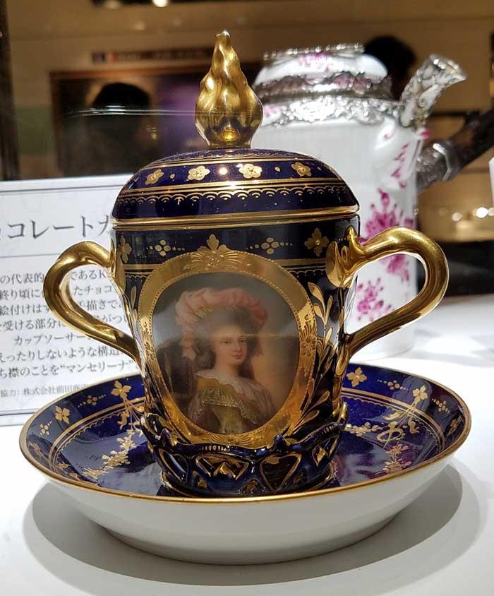 19世紀ドイツ K.P.M窯 チョコレートカップ
